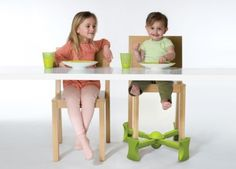 KABOOST is a child booster with a difference: it raises the height of chairs so your child can sit at the table in a normal kitchen or dining room setting using an adjustable spring system which can be attached within seconds.