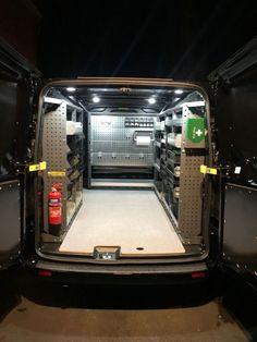 Photos & Videos Van Racking, Shelving and Ideas Van Storage, Truck Storage, Van Racking Systems, Van Organization, Van Shelving, Work Trailer, Diy Rack, Transit Custom, Painted Vans