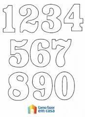 moldes de numeros para imprimir 1: