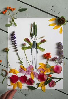 Kids craft: nature collages. [Easy, Fun DIY Activities You Can Do with your Kids - Petit & Small]