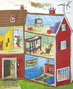 Richard Scarry - I learned to read with these books, my brother and I fought over our collection of Scarry's books and devoured them almost daily... - A