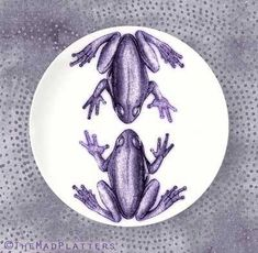 Frogs, Tilandsia Purple frogs plate