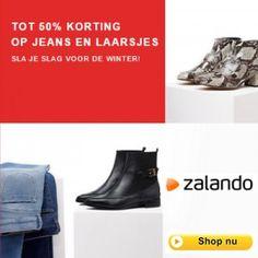 Nu bij Zalando: Korting jeans en laarsjes tot 50%. Zalando is een van oorsprong Duitse webshop voor schoenen, kleding en mode-accessoires. Het bedrijf i... #Zalando #mode #kleding