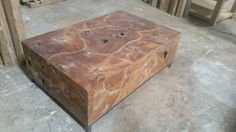recycled Teak  puzzle  coffee table