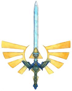 Master Sword Tattoo Design by Saskle