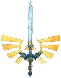 Master Sword Tattoo Design by Saskle