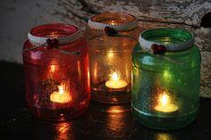 Glitter Christmas Tree Luminaries