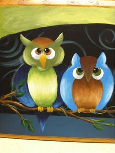 Tolentreasures: Owl Painting Step by Step - Free Painting Pattern and Directions