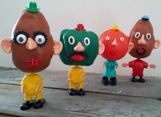 Vintage Mr. Potato Head They were my mom's when she was a kid. I eventually got them. They frightened me.