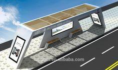 Thc-117 Modern Steel Solar Power Bus Stop Shelter - Buy Modern ...