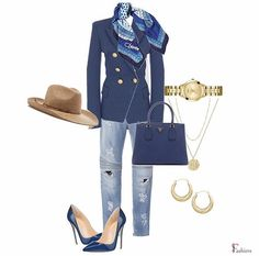Visit the link to shop the look. Created with Sporty Clothes, Sporty Outfits, Work Outfits, Chic Outfits, Fashion Outfits, Womens Fashion, African Hair Wrap, Woman Inspiration, Dress Blues