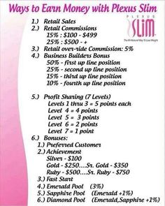 One of the best comp plans out there. Network marketing=financial freedom. Www.plexusslim.com/saraschmidt