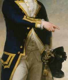 Captain John Gell (detail), Gilbert Stuart, 1785. Oil on canvas.