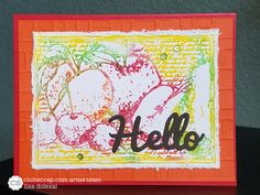 #clubscrap, orchard kit, gelatos misted with water