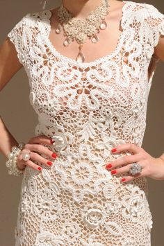 MyPicot Club ::: Irish lace dress by Olga Krivenko so lovely. Would make a gorgeous wedding dress. Lorr