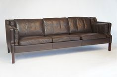 BUFFALO LEATHER 1960'S DANISH SOFA