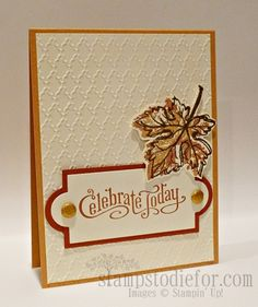 Hand Stamped Card by Patsy Waggoner, using Stampin' Up! stamp set Gently Falling.