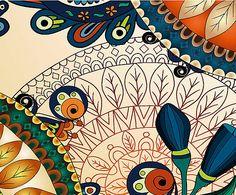 Capa para almofada mandal colors - 30x45cm