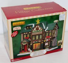 LEMAX Caddington Village Porcelain Tudor Style House Lighted Building NIB