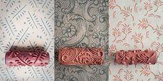 Rodillos con texturas para paredes decoradas