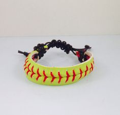 This softball bracelet makes a great stocking stuffer!   Girls stocking stuffers, stocking stuffer ideas, stocking stuffers idea, Softball, Softball Jewelry, Softball Bracelet, Sports Jewelry, Sporty