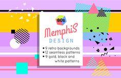 background Memphis design, background by Vectorgift on creativemarket Graphic Patterns, White Patterns, Graphic Design, Pattern Art, Pattern Design, 80s Background, Memphis Design, Creative Sketches, Pencil Illustration