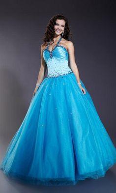 Halter Ball Gown Dress