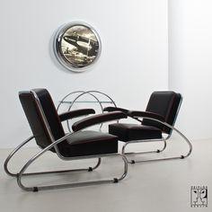 Streamline lounge chairs.