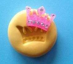 Miniature Princess CROWN Silicone MOLD - Fondant Mold, Metal Mold, Clay Mold, Cake Decoration, Food Grade, Cake, Cupcake, Cake Pops