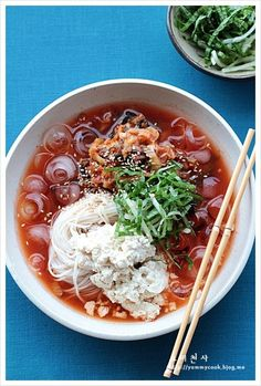 Kimchi, Spagetti Pizza, Tofu, Ramen, K Food, Asian Recipes, Ethnic Recipes, Korean Food, Cooking Classes
