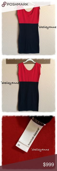 American Apparel Color Block Dress red & black color block bodycon dress | perfect condition! American Apparel Dresses
