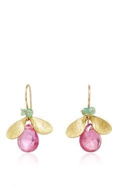 Rubellite jeweled bug with emerald eyes by Annette Ferdinandsen
