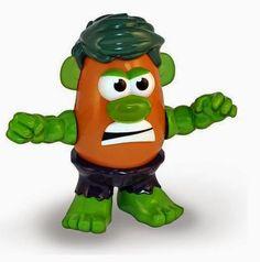 Mister Potato como Increíble Hulk   Merchandising Películas