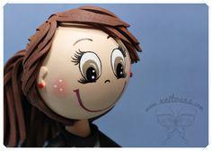 Peinado fofucha con coleta  www.xeitosas.com
