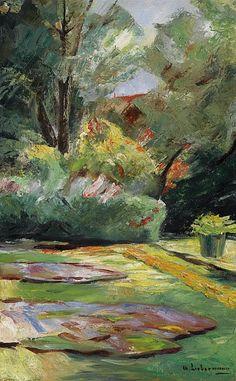 Max Liebermann - Wannsee Garden, Flower Terrace to the Northeast, 1925. Картины с аукционов Sotheby `s