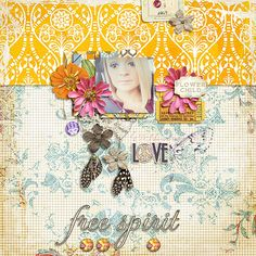 Digital Scrapbook Page Layout by intensemagic using Shabby Boho with matching Word Art from Etc by Danyale at The Lilypad #etcbydanyale #digitalscrapbooking #memorykeeping #shabby #bohemian  #gypsy
