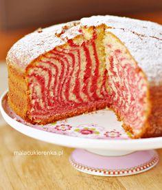Ciasto zebra kolorowa Fudge Cake, Polish Recipes, Cake Boss, Food Cakes, Homemade Cakes, Cake Toppers, Cookie Recipes, Cake Decorating, Food And Drink