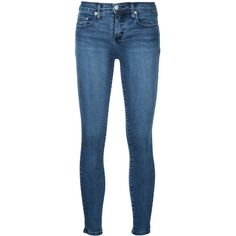 Nobody Denim Geo Skinny Ankle Emerge jeans ($195) ❤ liked on Polyvore featuring jeans, blue, mid rise jeans, super skinny jeans, skinny ankle jeans, blue jeans and skinny jeans