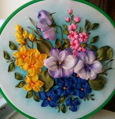 Wonderful Ribbon Embroidery Flowers by Hand Ideas. Enchanting Ribbon Embroidery Flowers by Hand Ideas. Hand Embroidery Videos, Hand Embroidery Stitches, Embroidery For Beginners, Embroidery Patterns, Ribbon Embroidery Tutorial, Flower Embroidery Designs, Silk Ribbon Embroidery, Ribbon Art, Ribbon Crafts