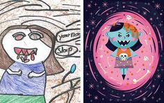 Монстры: Иллюстрации из детских рисунков
