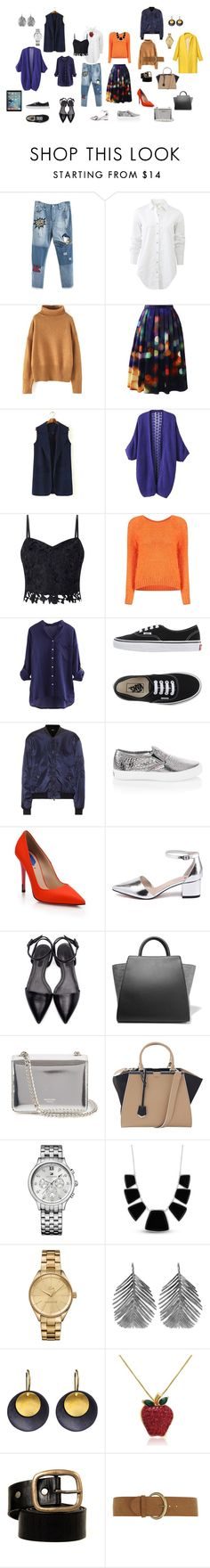 """Капсула для работы стилистом"" by knv9077 on Polyvore featuring мода, rag & bone, Chicwish, Lipsy, Vans, Jil Sander Navy, White House Black Market, Fendi, Alexander Wang и ZAC Zac Posen"