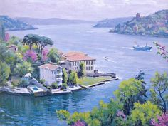 Ahmet Yakupoğlu -  from  Oil Painting Pictures, Pictures To Paint, Artist Painting, Watercolor Paintings, Scenery Paintings, Turkish Art, Mosaic Art, Art Techniques, Painting Inspiration