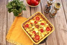 Italian Food Forever » Baked Frittata With Potatoes, Mushrooms, Tomatoes & Goat Cheese