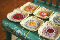 Crochet circle squares