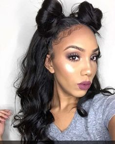 DOUBLE BUNS ARE THE LATEST IT HAIRSTYLE