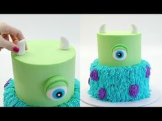 25 + Marvelous Picture of Monsters Inc Geburtstagstorte - birthday Cake White Ideen Monster Inc Party, Monster Inc Cakes, Monster Inc Birthday, Monsters Inc Cupcakes, Sully Cake, Monsters Inc Baby Shower, Buttercream Cake Decorating, Mike And Sully, Birthday Cakes
