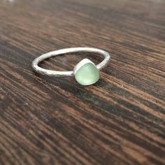 Seaglass ring Cornish seaglass sea glass ring by GraceBaskerville