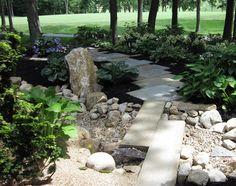 Limestone slab steps in dublin japanese garden for Soil xchange