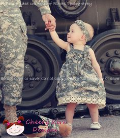 Items similar to ACU Fabric Knot Dress in Authentic acu Military Fabric by Cheery Kiri Designs on Etsy Military Love, Army Love, Cute Kids, Cute Babies, Marine Baby, Foto Fantasy, Knot Dress, Cutest Thing Ever, Future Baby