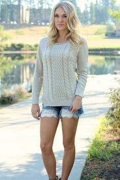 Warm Me Up Cable Knit Long Sleeve Sweater